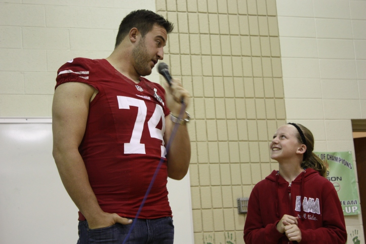 Natalie and Joe Staley