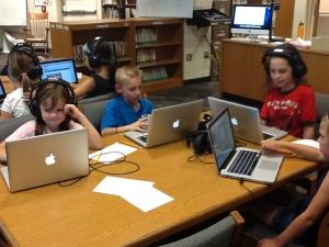 2nd graders visiting online sites