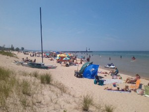 Pentwater Beach on Lake Michigan