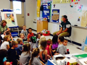 Mrs. Healey's class asking their player questions