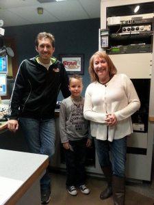 Kaden at the radio station