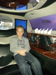 Kaden in the limo