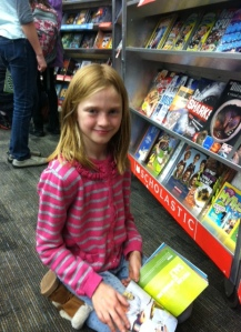 Sarah Jean loves Scholastic Book Fairs!