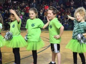 Some of our Kindergarten Cheerleaders