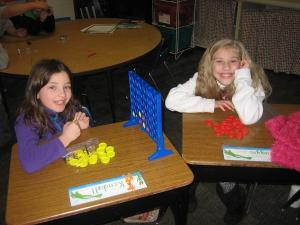 1st Graders enjoy Connect Four!