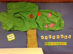 Our Everyone Matters Tree at Pinewood