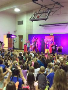 students dancing with Jill during the show