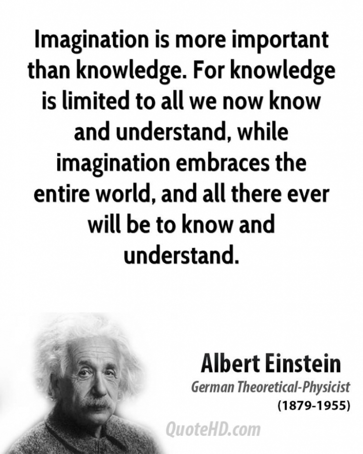 Imagination Is More Important Than Knowledge Quote Albert Einstein Quotes Quotehd